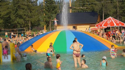 Pieniny park wodny atrakcje dla dzieci