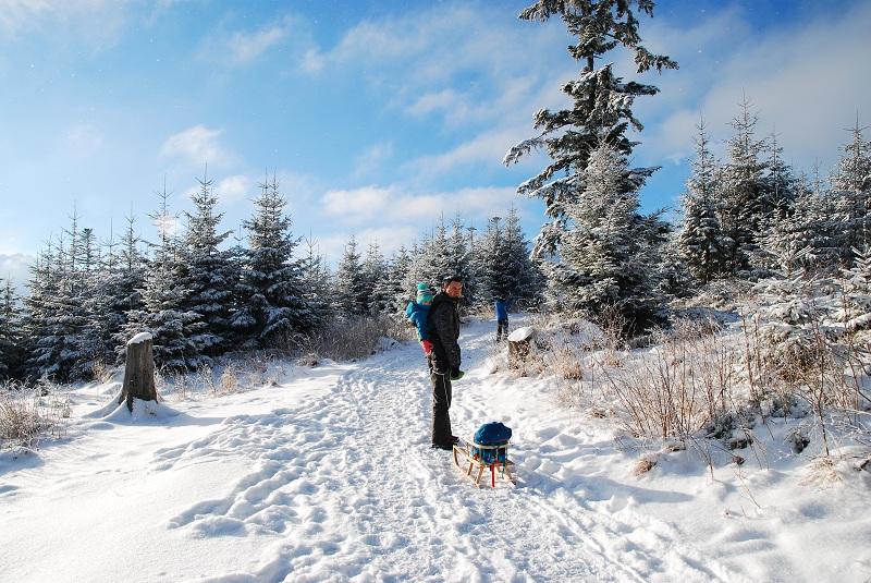 Polana Rusinowa rodzinne atrakcje zimą