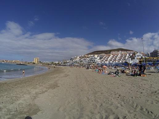 Plaża najładniejsza Adeje Los Christianos Las Americas