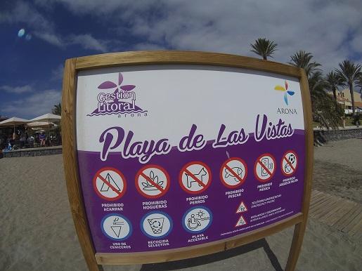 Playa de las Vistas Teneryfa plaże z żółtym piaskiem
