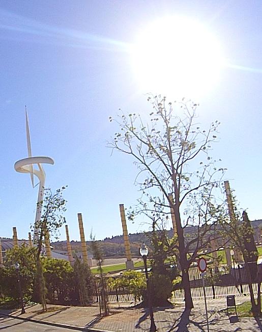 wieża telekomunikacyjna Barcelona olimpijska