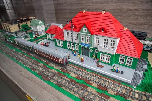 Władysławowo dworzec- Wystawa budowli z klocków LEGO