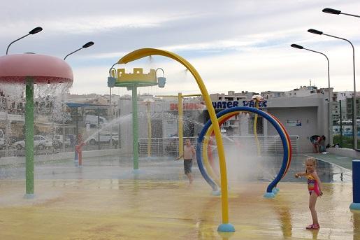 wodny plac zabaw  dla dzieci Bugibba Malta