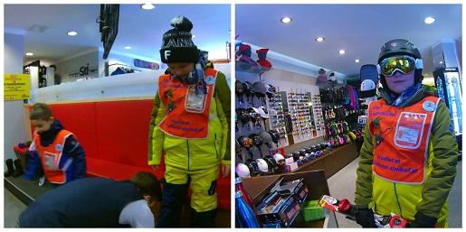 wypożyczalnia sprzętu narty z dzieckiem austria