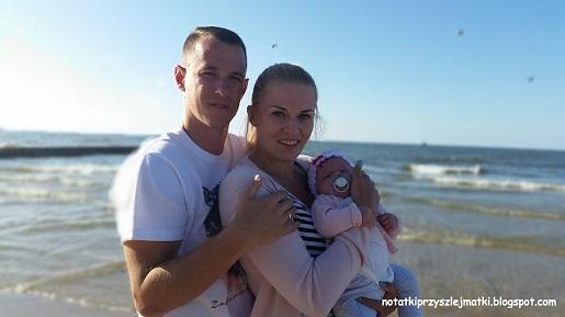z niemowlakiem nad Bałtykiem