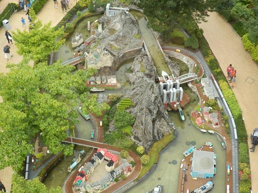 Budowle Legoland widziane z góry