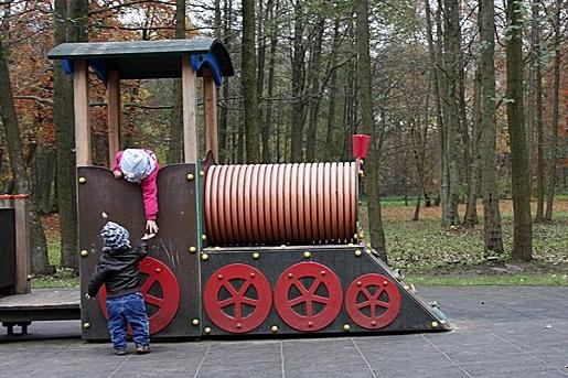 zabawa w pociąg plac zabaw Wejherowo dla dzieci