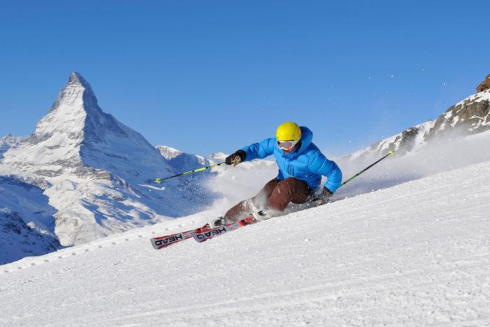narty z dzieckiem Zermatt Szwajcaria