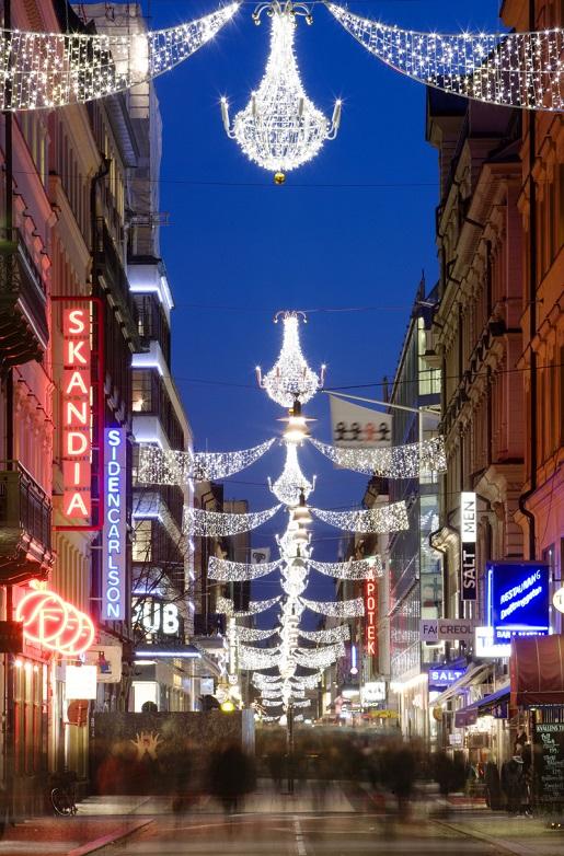 zima i święta w Sztokholmie