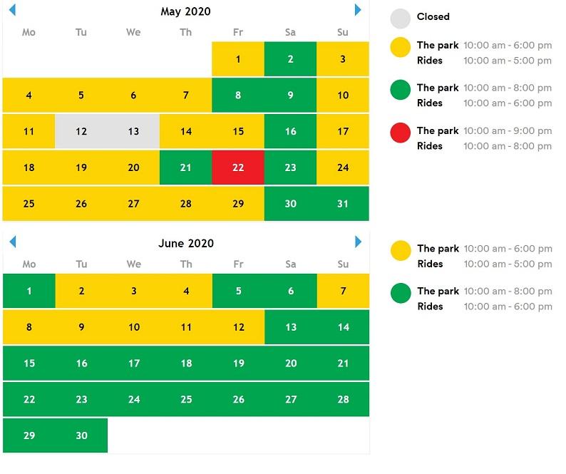 legoland- godziny otwarcia 2020 - maj czerwiec