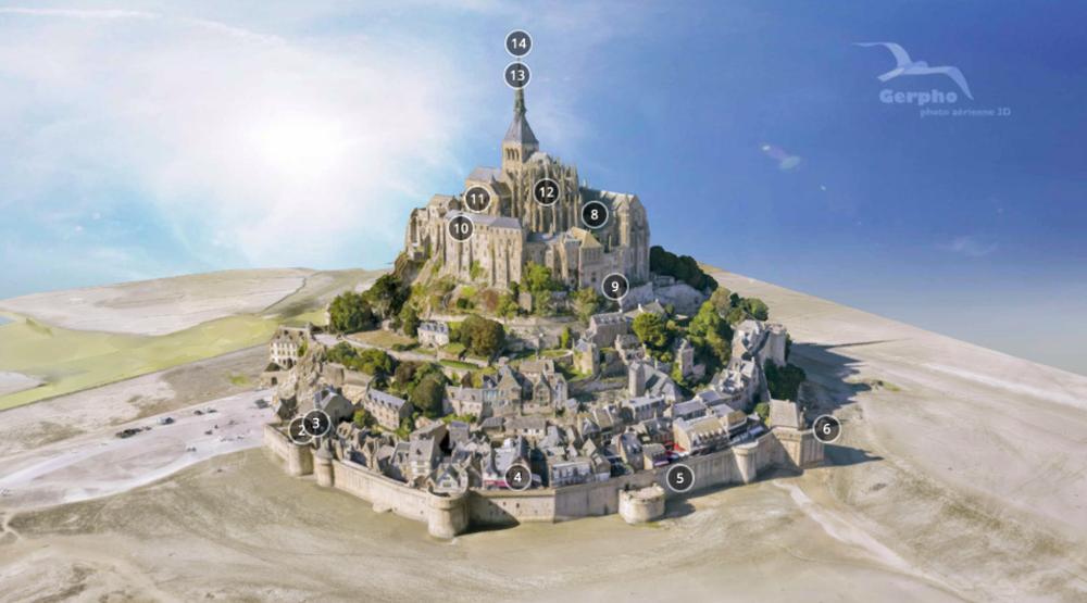 30 budowli, które można zwiedzić bez wychodzenia z domu mont saint michel