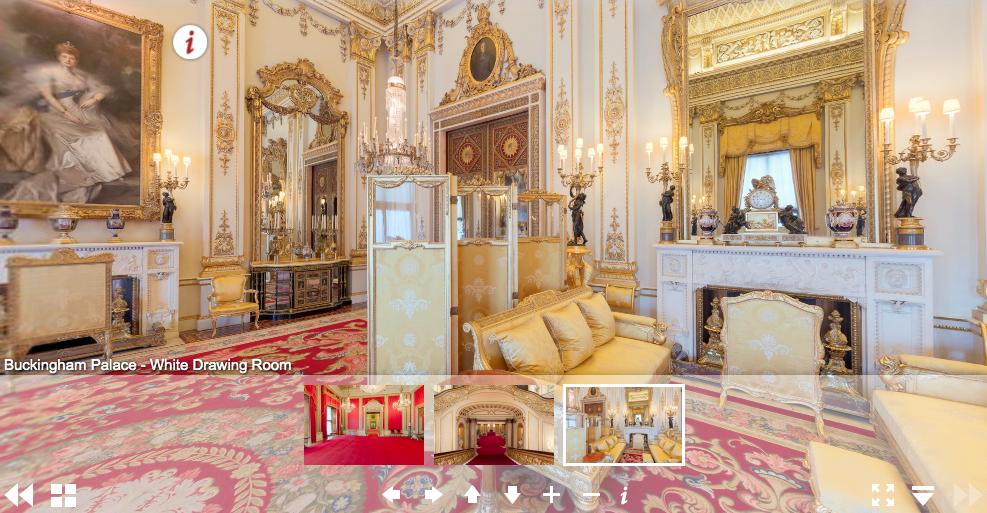 30 budowli, które można zwiedzić bez wychodzenia z domu pałac buckingham