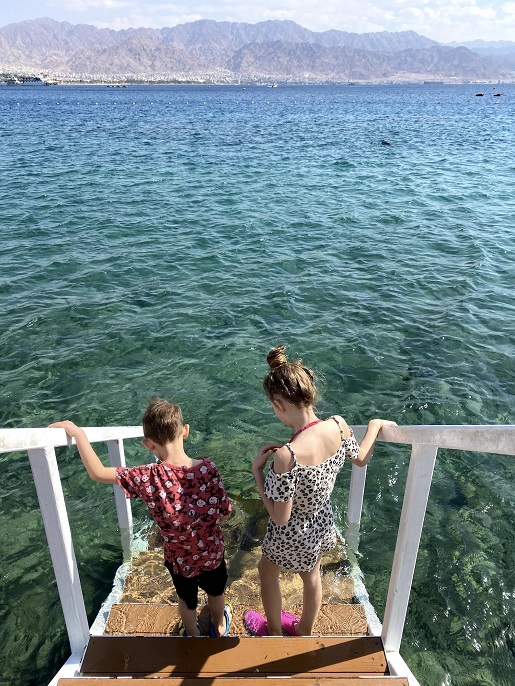 Eljat Izrael temperatury zimą luty woda