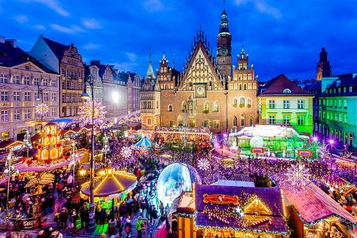 Jarmak Świąteczny Wrocław iluminacje atrakcje dla dzieci choinka opinie