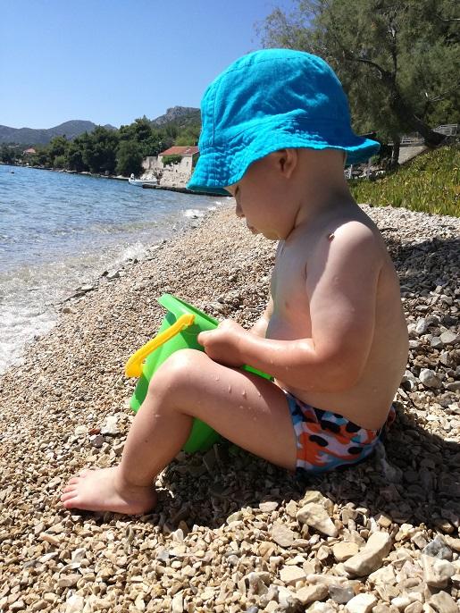 Jeziora Plitvickie z rocznym dzieckiem