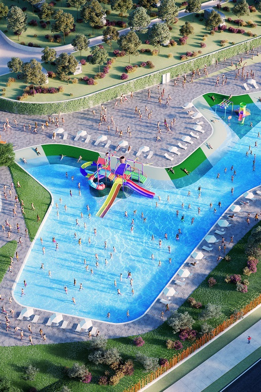 Cisano_San Vito-Garda najlepsze kempingi dla rodzin z dziećmi z basenami i aquaparkiem