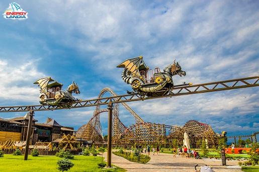 Dragon Smoczy Gród nowe atrakcje Energylandia 2019