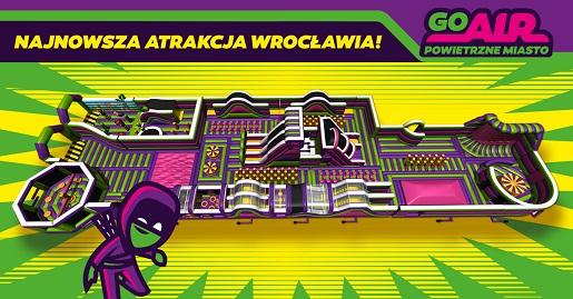 Wrocław atrakcje dla dzieci powietrzne miasto GOair opinie