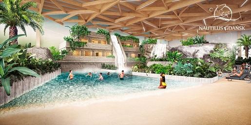 Gdańsk nautilus aquapark plaża atrakcje kiedy otwarcie