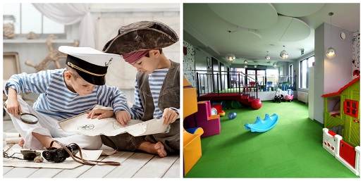 Golden Tulip Gdańsk Residence Pirackie Ferie 2020 pakiety hoteli atrakcje dla dzieci basen plac zabaw