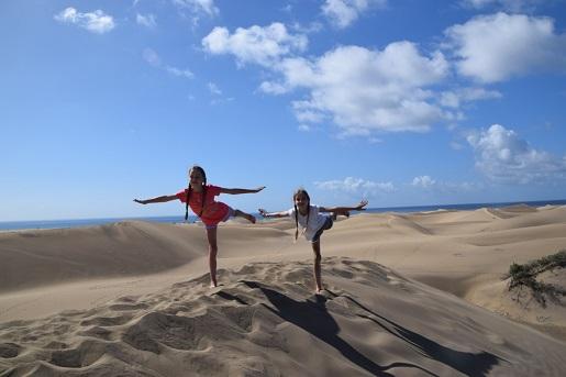Gran Canaria wydmy Dunas de Maspalomas z dziećmi opinie