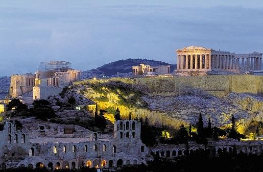 Grecja zima pogoda Ateny styczeń luty