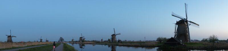 Holandia wiatraki Kinderdijk