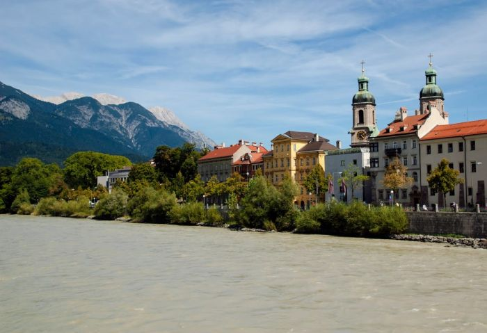 Innsbruck rzeka Inn atrakcje