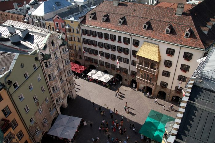 Innsbruck złoty dach co zobaczyć - zwiedzanie z dzieckiem