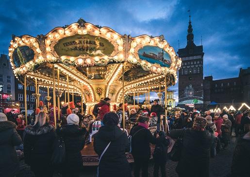 Jarmark Bożonarodzeniowy Gdańsk karuzela dla dzieci cena program atrakcje