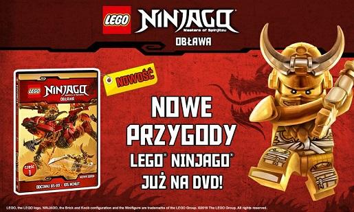 LEGO NINJAGO OBLAWA odcinki DVD nowe