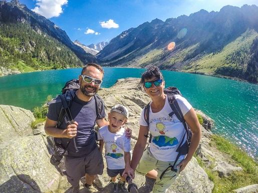 Lac du Gaube, Pireneje, blisko kempingu Pyrenevasion, Francja