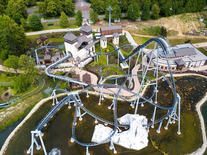 Lech rollercoaster kolejka Górska Legendia opinie