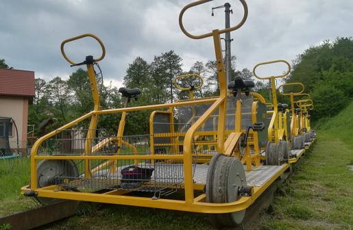 Lokalna Kolej Drezynowa w Regulicach atrakcje dla dzeici małopolska 2
