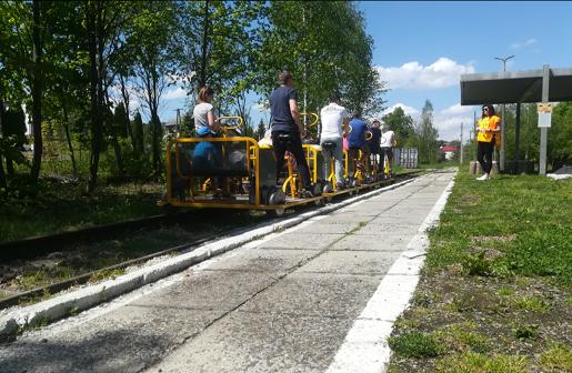 Lokalna Kolej Drezynowa w Regulicach atrakcje dla dzeici małopolska 4