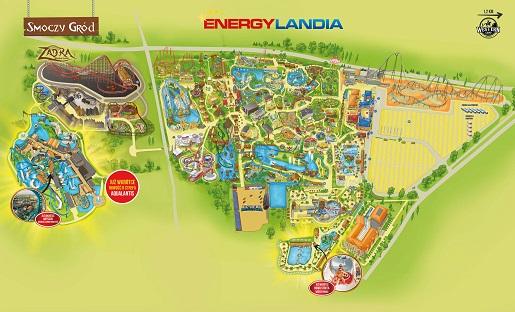 MAPA energylandia 2020 zator park rozrywki