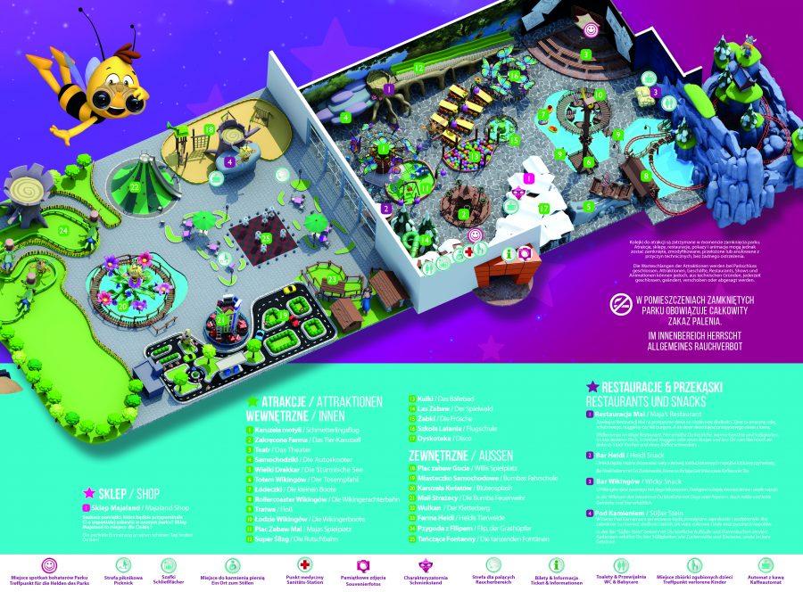 Majaland mapa parku rozrywki
