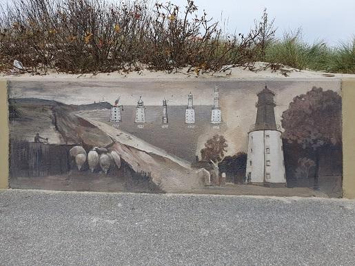 Mural w porcie rybackim Władysławowo atrakcje dla rodzin z dziećmi 1