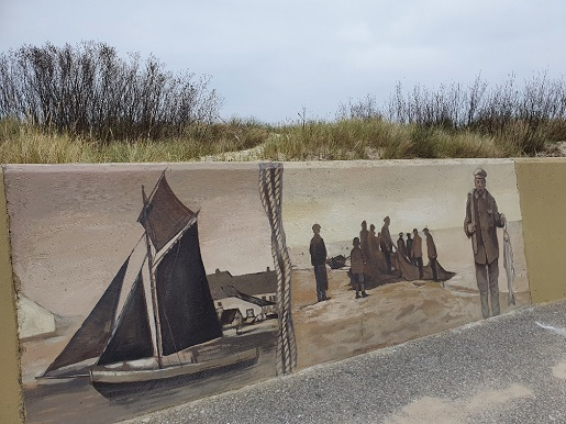 Mural w porcie rybackim Władysławowo atrakcje dla rodzin z dziećmi 2