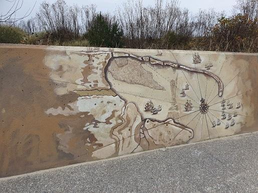 Mural w porcie rybackim Władysławowo atrakcje dla rodzin z dziećmi
