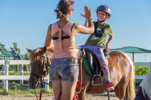 Nauka jazdy konnej na kempingu Barricata we Włoszech