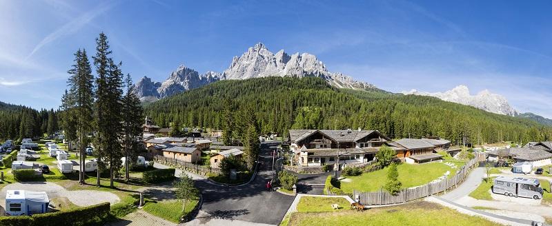 Kemping z atrakcjami dla dzieci Dolomity Caravan Park Sexten