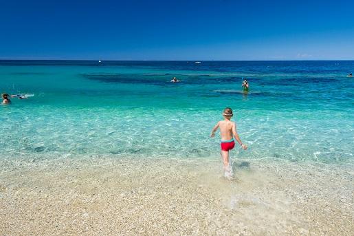 Plaża na Elbie we Włoszech