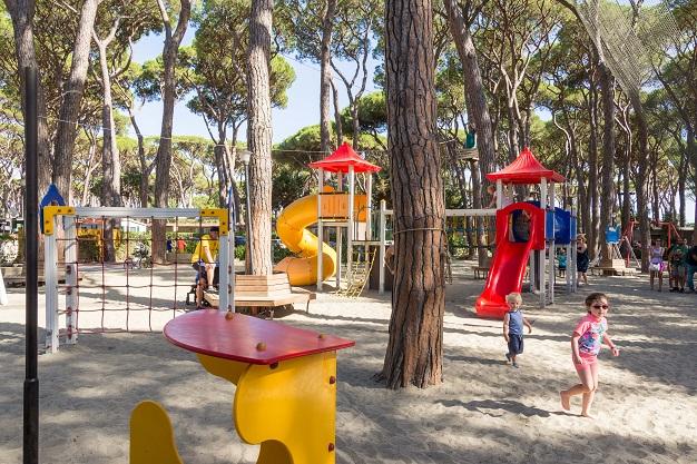 Plac zabaw na kempingu Park Albatros we Włoszech