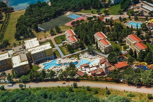 SOL GARDEN ISTRA HOTEL widok z lotu ptaka basen chorwacja opinie wakacje