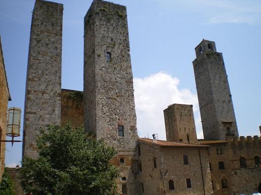 San Gimignano - wieże - gdzie na wakacje w Toskani