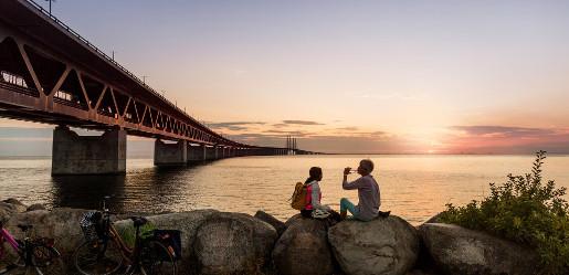 Skania z dzieckiem najlepsze atrakcje dla dzieci Malmo atrakcje zwiedzanie most Oresund Fot. Apeloga