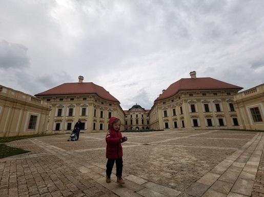 Slavkov u Brna Austerlitz z dzieckiem Czechy