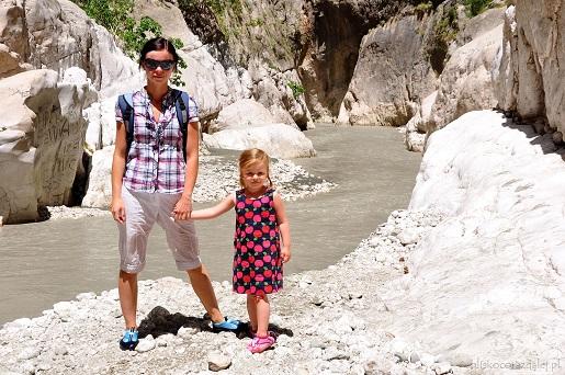 Wąwóz Saklikent Turcja atrakcje podróż z dziećmi samochodem