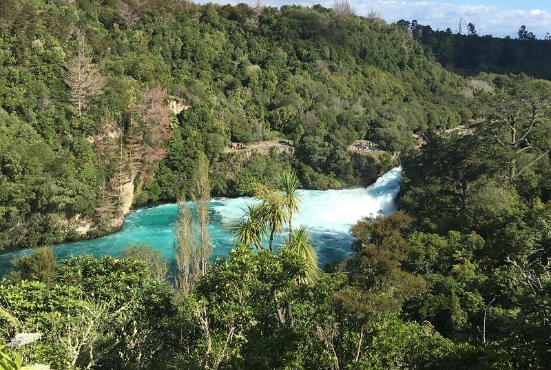 Wodospad Huka Nowa Zelandia relacja z podróży zdjęcia opinie